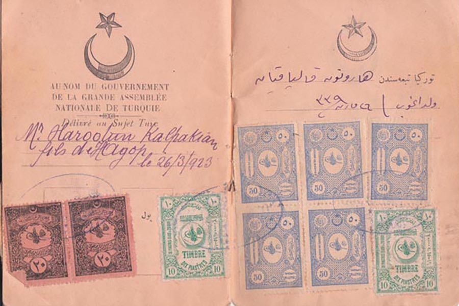 historical turkish passport